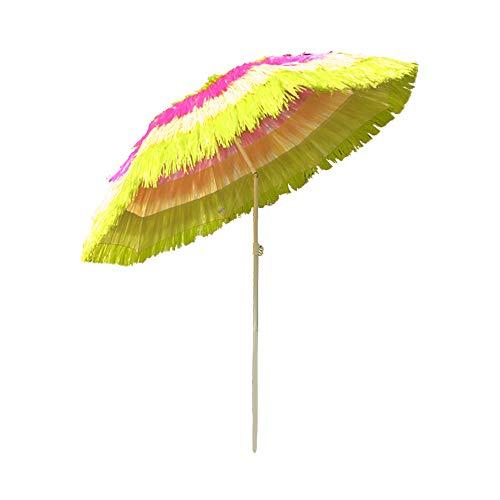 Greenbay Sonnenschirm Hawaii Strandschirm Gartenschirm Balkonschirm Schirm Ø160cm Bunt