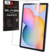 "TECHGEAR Galaxy Tab S6 Lite 10.4"" GLASS Edition (SM-P610 / SM-P615), Tempered Glass Screen Protector [9H Toughness] [HD Clarity] [Scratch-Resistant] [No-Bubble] Designed For Samsung Galaxy Tab S6 Lite"