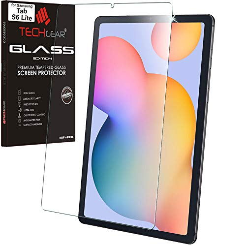 TECHGEAR Galaxy Tab S6 Lite 10.4' GLASS Edition (SM-P610 / SM-P615), Tempered Glass Screen Protector [9H Toughness] [HD Clarity] [Scratch-Resistant] [No-Bubble] Designed For Samsung Galaxy Tab S6 Lite