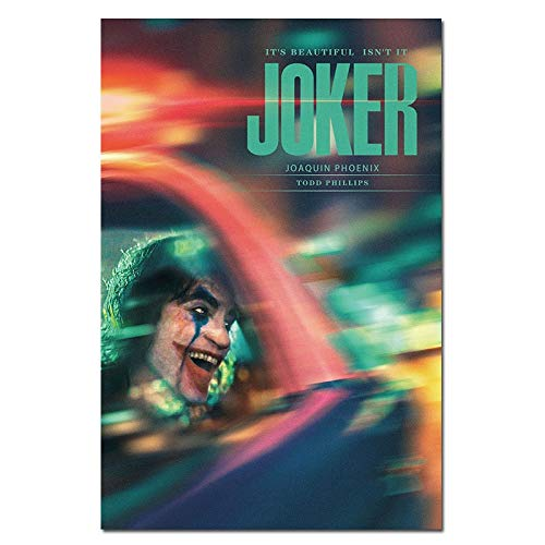 YIYEBAOFU DIY Painting by Numbers Movie Clown Silk Clown Origin Movie Wall Art Deco Picture Joaquin Phoenix40x60cm(No Frame)