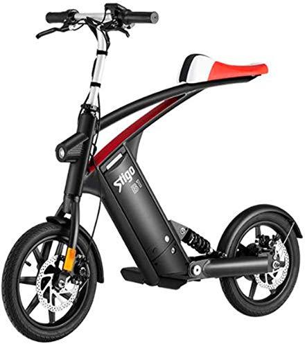 Bicicleta eléctrica de nieve, Bicicleta eléctrica con 36V 10Ah 250W extraíble de litio-ion Battery14 pulgadas plegable bicicleta eléctrica City bicicletas Velocidad máxima 25 kmh Capacidad de carga 12
