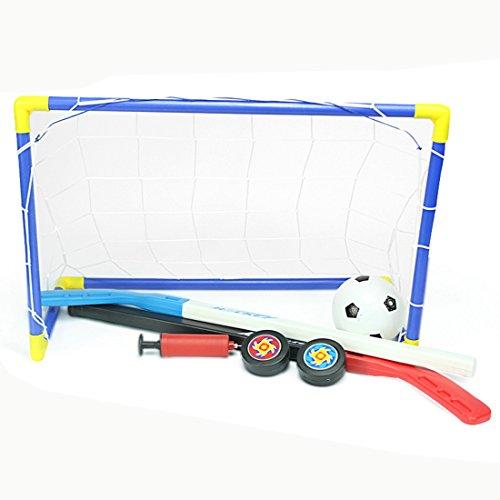 fokom Niños Fútbol Parte portería de hockey sobre hielo portería de fútbol Juego de 1portería con fútbol, Bomba, hockey sobre hielo y hockey sobre hielo Stick