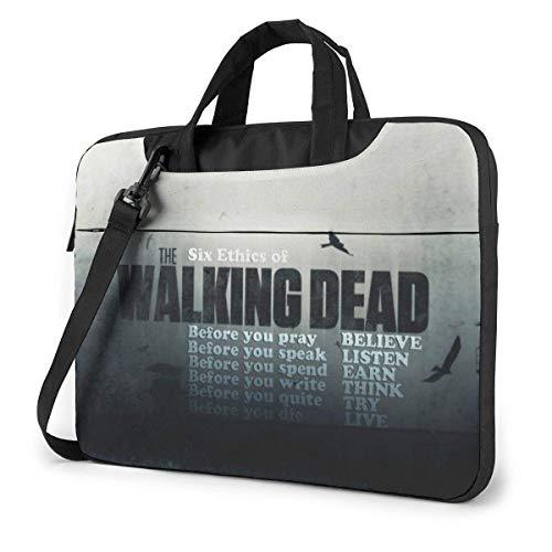 Walking Dead Maletín para portátil 14 15 15,6 Pulgadas Maletín Bandolera Bandolera Impermeable Bolsa para portátil Satchel Tablet Bussiness Bolso de Mano para Mujeres y Hombres 14 Pulgadas