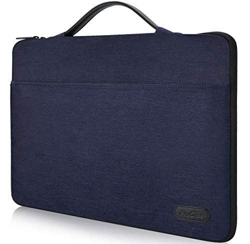 ProCase 14-15.6 Inch Laptop Sleeve Case Protective Bag, Ultrabook Notebook Carrying Case Handbag for 14' 15' Dell Lenovo HP Asus Acer Samsung Sony Toshiba Chromebook Computers -Darkblue