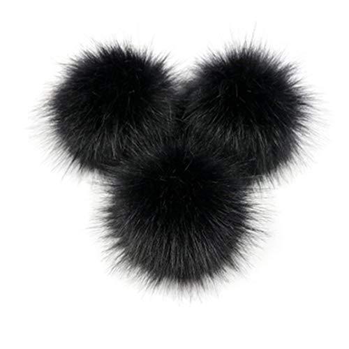 Sylvialuca Pompon abnehmbare Fell Flauschigen Wackelball mit Druckknopf für DIY Hüte Caps Taschen Kleidung Schuhe Dekor