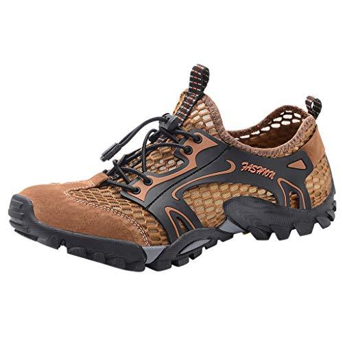 LuckyGirls • • Senderismo Zapatillas Aire Libre Running Zapato de Agua para Buceo Piscina Snorkel Surf Hombre Playa Calzado Natación Deportes con Cordones Secado Rápido Escarpines