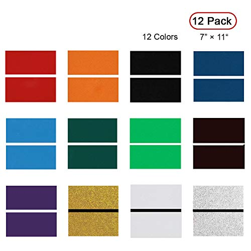"""Badges. for Interior Signs 7 x 11/"""" x .060/"""", 12 Pieces /& 12 Colors XLNT Engraving Double Color Sheet"""