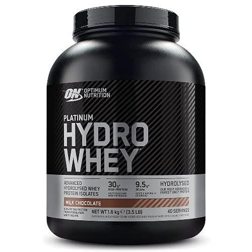 Optimum Nutrition Platinum Hydro Whey, Proteine Idrolizzate di Siero di Latte, Cioccolato al Latte, 40 Porzioni, 1,6 kg, il Packaging Può Variare