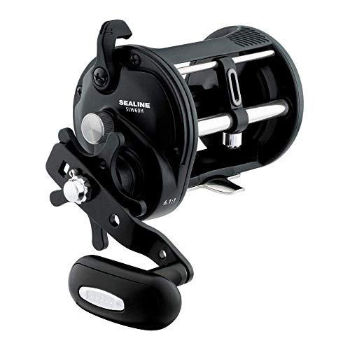 Daiwa SLW60H Sealine Saltwater Levelwind Reel, 60, 6.1: Gear Ratio, 1BB. !RB Bearings, 20 lb Max Drag, Right Hand