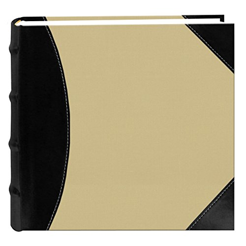 Pioneer Photo Albums High Capacity Photo Album, 500 Memo Pockets, Black and Beige