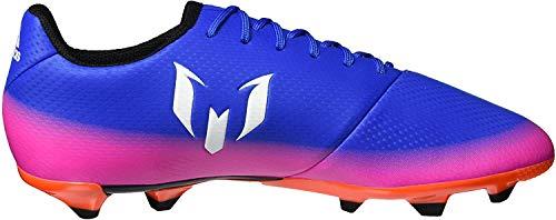 adidas Messi 16.3 FG, Botas de fútbol Unisex niños, Azul (Blue/FTWR White/Solar Orange), 35 EU