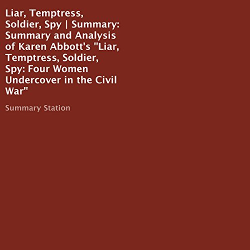 Summary and Analysis of Karen Abbott's 'Liar, Temptress, Soldier, Spy: Four Women Undercover in the Civil War' audiobook cover art