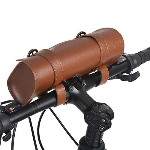 Bolsa de Almacenamiento de Bicicletas, Bolsa Plegable para Bicicletas Bolsa de Manillar de Bicicleta de Estilo Retro Bolsa de Cuadro de Bicicleta para Bicicleta de montaña para Bicicleta de