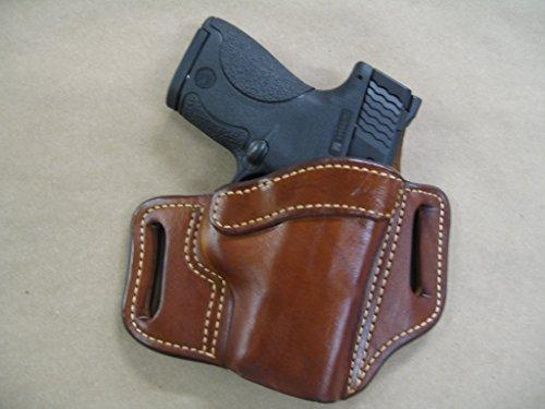 Walther PK380 PK .380 OWB Leather 2 Slot Molded Pancake Belt Holster...