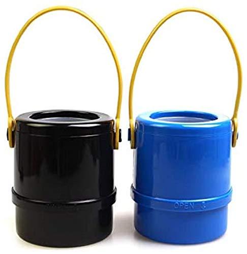 Cubo de Almacenamiento Plegable para automóvil, Cubo de Almacenamiento de Basura para automóvil para Bastones Bastones Paraguas/Portavasos, Bolsa organizadora Impermeable (Negro + Azul)