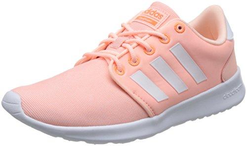 adidas Damen Cloudfoam QT Racer Gymnastikschuhe, Pink (Haze Coral S17/Ftwr White/Hi-Res Orange S18), 39 1/3 EU