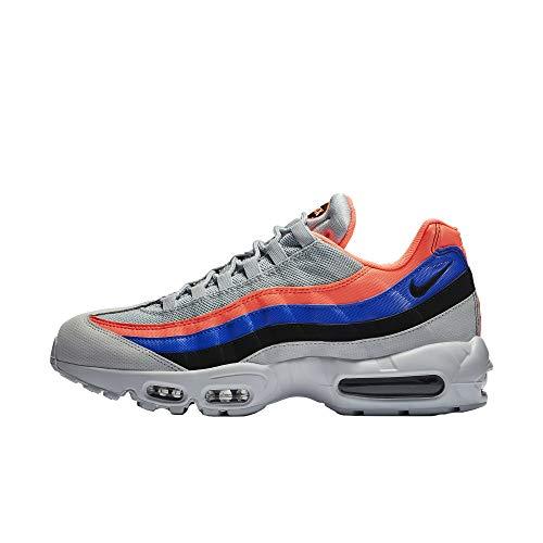 Nike Men's Air Max 95 Essential Competition Running Shoes, Multicolour (Pure Platinum/Black-Bright Mango 035), 5.5 UK
