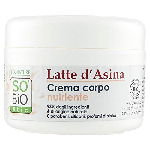 SO'BiO étic Soins Visage et Corps Mon Lait d'Anesse Crème Veloutée Nourrissante 200 ml