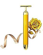Heyuni.エネルギー美容バー24 kゴールデンパルス顔マッサージT字型ゴールドフェイス美容マッサージエネルギー