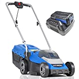 Hyundai Cordless Lawnmower with Powerful 40V Battery & Charger. Lightweight Rotary Lawn Mower, 3 x Height Adjustable, 33cm for Cutting & Mulching. For Small & Medium Grass Gardens. 3 Year Warranty - Best Reviews Guide