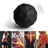 Bola de Masaje, 2-Speed Fitness Yoga Pilates Physical Therapy Massage Roller to Fight Sore Muscles,Washable Negative Ion Vibration Massages ball for Muscle Recovery,Myofascial Release