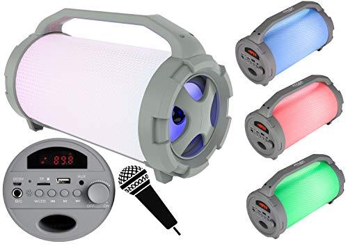 Adler Altavoz portátil Bluetooth, USB, Radio FM, Tarjeta Micro SD, Entrada Auxiliar,...