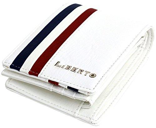 [エドウィン] サイフ メンズ 財布 二つ折り財布 PUレザー 大容量 小銭入れ ウォレット カード入れ トリコロール リベルト ホワイト