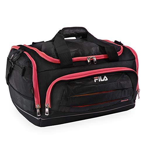 Fila Cypress Small Sport Duffel Bag, Black/Red, One Size