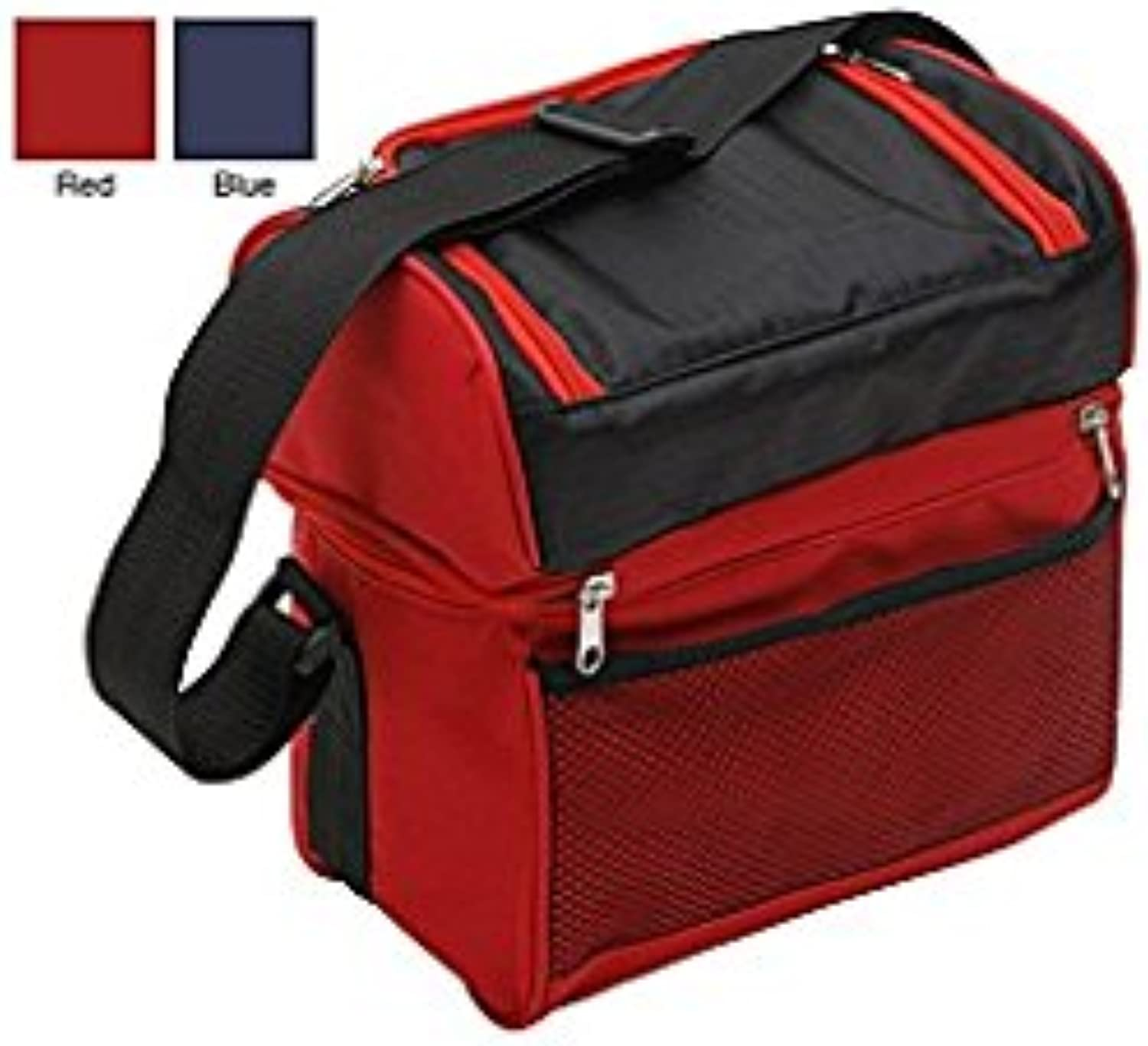 Premium Connection 290-CBBB TrailWorthy Hot and Cold 2 Compartment Cooler Bagbluee with Black Trim