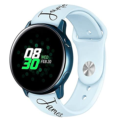 SHUMEI Correa personalizada compatible con Samsung Galaxy Watch 46MM/22M para Gear S3/Grar S4 mujeres hombres regalo personalizado suave silicona deporte Loop reemplazo huawei correa