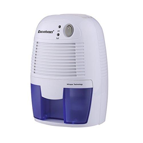 Excelvan Mini Deumidificatore d'aria da 500ml Compatto e Portatile per Muffa e Umidità in Casa, Cucina, Camera da Letto, Caravan, Ufficio, Garage