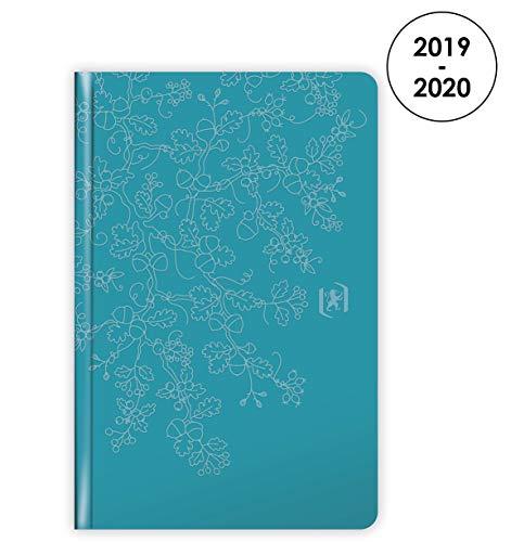 Oxford Agenda Beauty 2019 – 2020 od sierpnia 1 tydzień na 2 stronach, format 10 x 15, kolor niebieski