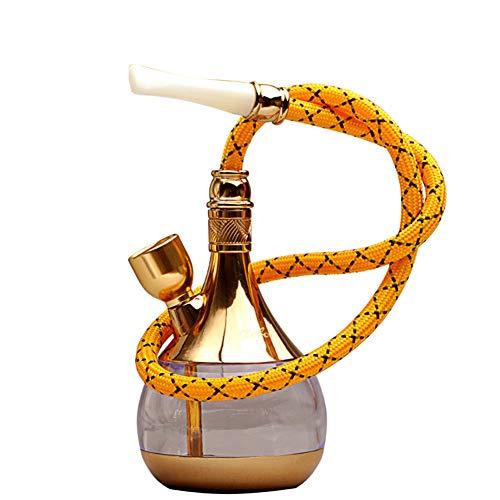 SJTL Hookah Conjunto Completo Tubos de Agua Mini Filtro Manguera De Cachimba, Nuevo Juego Cachimba, Accesorios Regalo Cachimba, FiltracióN Nicotina Otras Sustancias sin nicotina