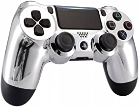 Chrome Silver Playstation 4 PS4 Dual Shock 4 Wireless Custom Controller