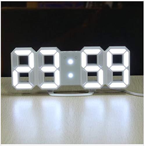 EsportsMJJ 24/12 uur 3D LED Elektronisch bureau wandklok kwarts met alarm digitaal display kunststof