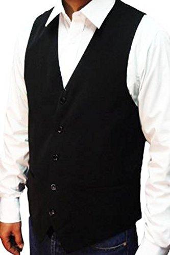 """Elegance1234 Hommes Noir Gilet Haute qualité Excellente de la Rue des Hommes (Men's Black Waistcoat) (XX-Grand 46""""(XX-Large))"""