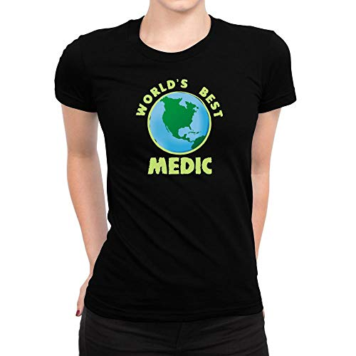 Idakoos World'S Best Medic Planet Camiseta Mujer