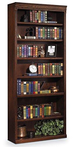 "Martin Furniture Huntington Oxford 84"" Open Bookcase, Burnish Finish, Fully Assembled"
