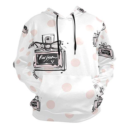 FANTAZIO Hooded Sweatshirt Mode Parfums Dots Patroon Mannen Oorzaak Bovenwerk Tops
