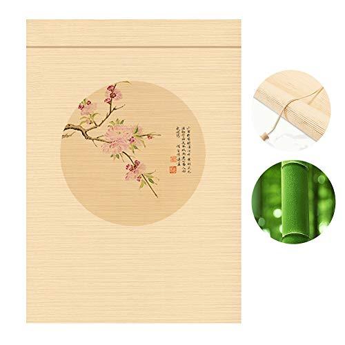 WENZHE Aufrollbares Fensterrollo aus Bambus, Sonnenschutz, für Zuhause, Balkon, zum Aufhängen, Dekoration, 2 Stile, Bambus, B, 140x160cm