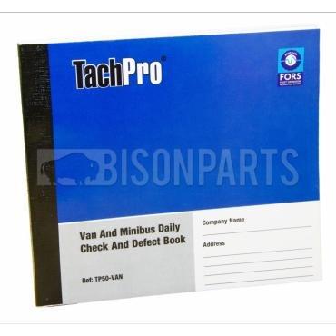 Tachpro Tachograph 50 Page Van & Minibus Daily Check & Defect Book - 100212