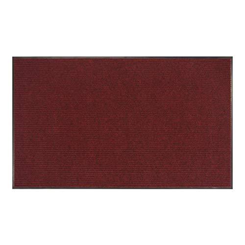 Amazon Basics Poly Linear-Rib Commercial Carpet Vinyl-Backed Mat 3' X 4' Red/Black
