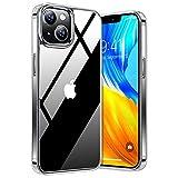 TORRAS Diamond Series Kompatibel mit iPhone 13 Hülle (Transparent) Vergilbungsfrei (Unzerstöbare Sturzfestigkeit) Schutzhülle iPhone 13 Guter Handgriff Kratzfestigkeit Handyhülle iPhone 13 Hülle - Klar