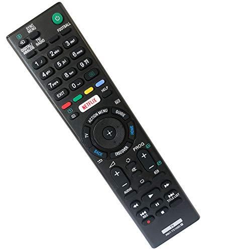 FYCJI Nuevo de Repuesto Mando a Distancia Sony Bravia RMT-TX100D- No Se Requiere Configuración, para Mando TV Sony Universal para Sony Mando a Distancia LCD/LED TV (Botón Netflix)