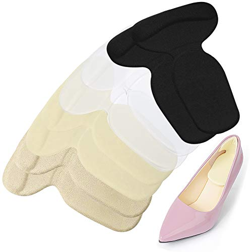 Heel Grips,Silicone Heel Cushion Inserts Liners for Anti-Slip and Anti-Blisters Heel Pads for Loose Shoes Great for New Shoes Inserts Liners Pads Back for Heel Protection - 4 Pairs