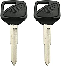 New Replacement Transponder key Chipped Uncut Blade ID46 chip for Honda Motorcycle (2 Pack)