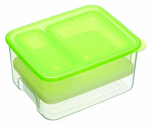 Kitchen Craft CMLUNCH1 Stay Cool Boîte avec Pack de Froid, Plastique, Vert/Transparent, 32 x 32 x 22 cm