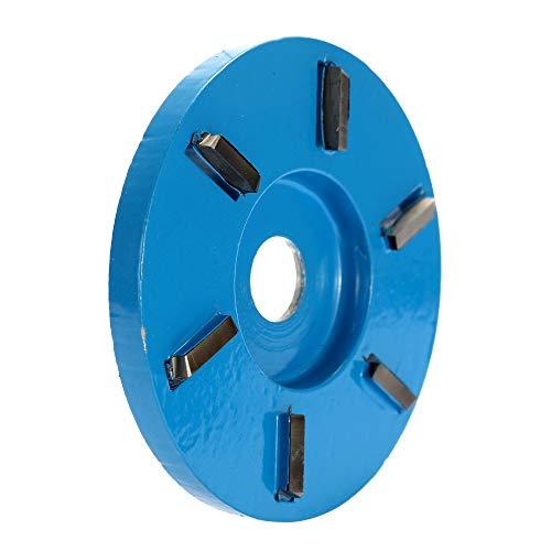 Fesjoy - HOLZSCHNITZSCHEIBE - 6 Zähne Power Grinder Kettenscheibenwerkzeug für ÖffnungsHolz Frässcheibe Winkelschleifer - flache Zähne