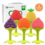 Nearbyme Baby Teething Toys, FDA Approved BPA-Free Soft Silicone Fruit...