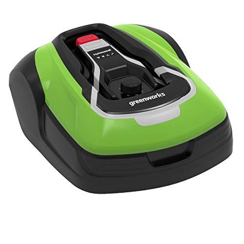 Greenworks Tools Robot Optimow 10 GRL110 (Tosaerba Semovente a Batteria, 1000 m², Fino 35% Pendio, 20-60 mm Altezza, 70 min Tempo Taglio, 24 V, 1000m²